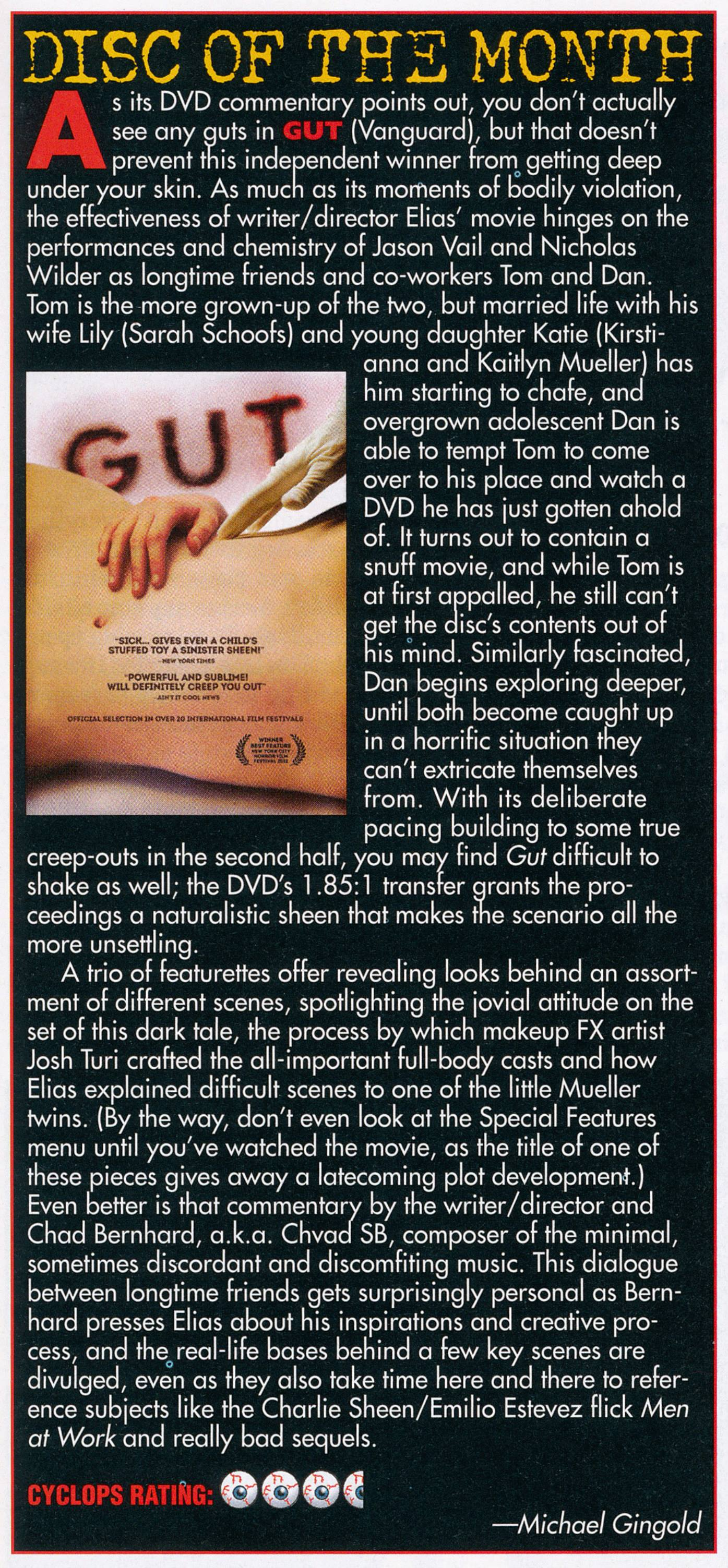 Fangoria GUT review