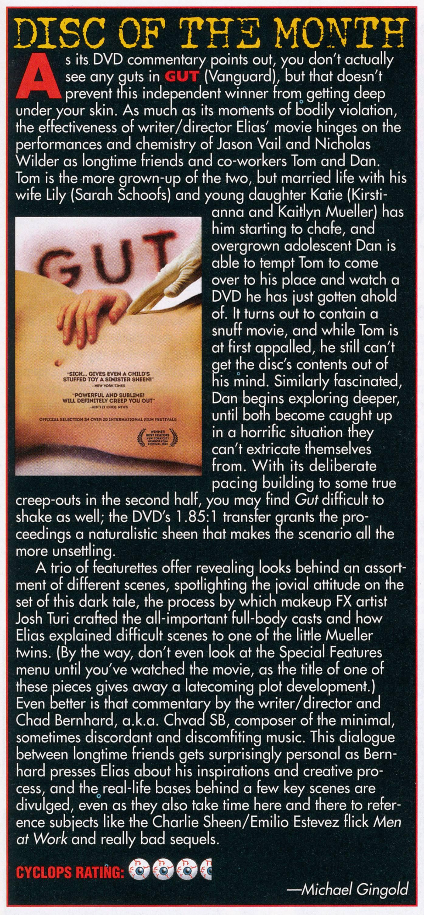 Fangoria GUT review
